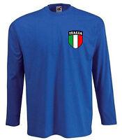 Italy Italian Italia Football Soccer Team Long Sleeved Adult T-shirt - All Sizes