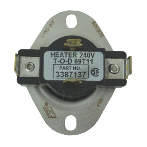 Wp3387137 Thermostat Dryer Whirlpool 3387137