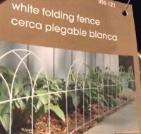 Home Depot White Folding Hinged Fence Garden Trim Edging