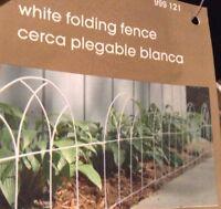 Home Depot White Folding Hinged Fence Garden Trim Edging