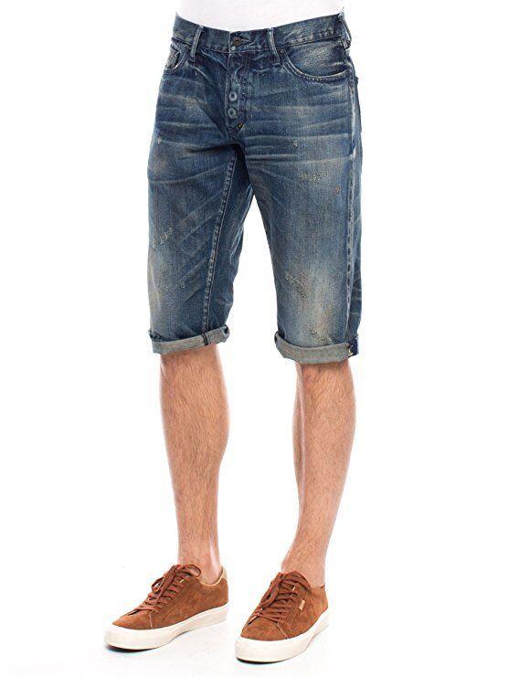 PRPS E76P98SH dark bluee denim shorts sz.31 NWT