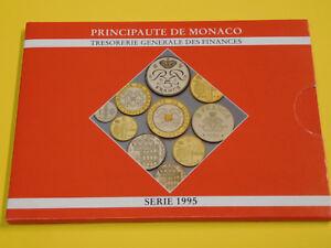 Monaco-KMS-1995-Francs-Coin-Set-letzte-Muenzen-vor-Euro-st-mit-Folder