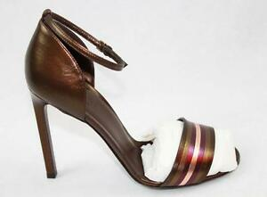 c2457fd5b94 Image is loading AUTH-695-Gucci-Women-Metallic-Leather-Sandal-Shoes-
