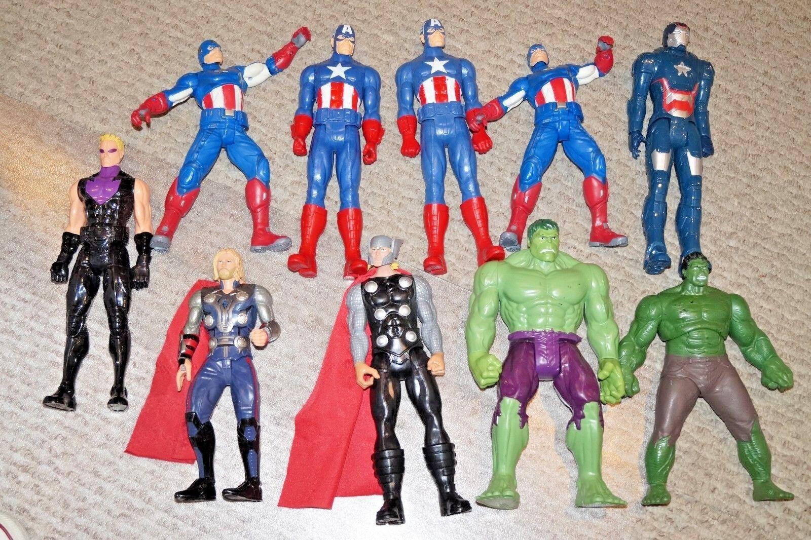 Viele 11 marvel - comics  captain america, hulk, thor haweye action - figuren