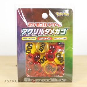 Japanese Pokemon Card Game officiel Acrylique dommages compteurs Ver1 Pack NEUF