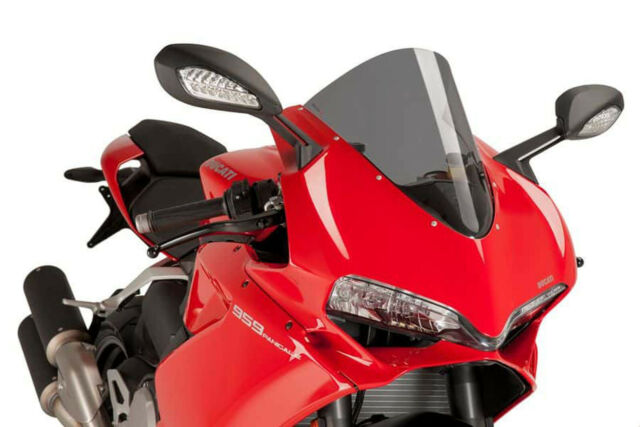 PUIG SCREEN R-RACER FOR DUCATI 1299 PANIGALE R/S 15-18 DARK SMOKE