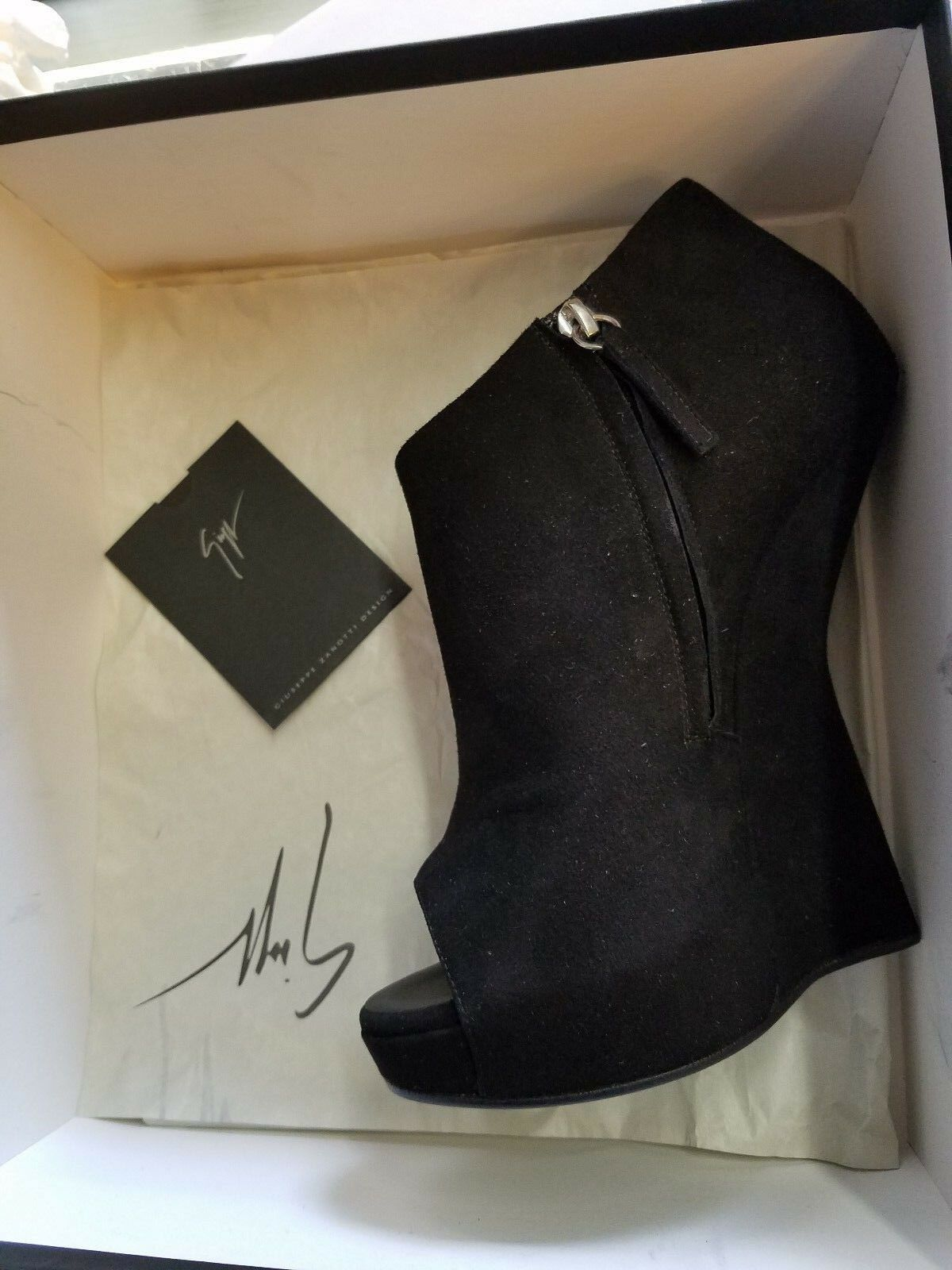 New in Box  995 Giuseppe Zanotti Alien Camoscio chaussures Ankle démarrageies Sz 38 chaussures