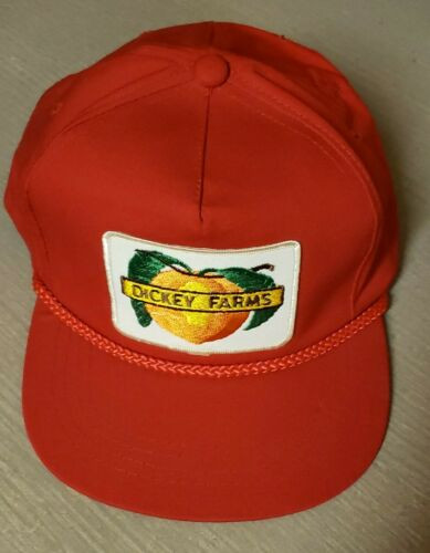 VTG Trucker Snapback Large Dickey Farms Patch Rope