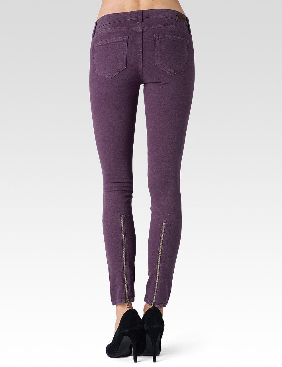 Nwt Paige Jeans Sz24 Sienna Reißverschluss Midrise Ultra Skinny-Stretch Narnia