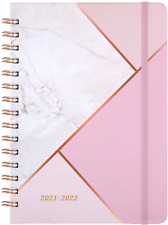 2021 2022 Daily Planner Calendar Organizer Refillable Hardcover Pink Marble