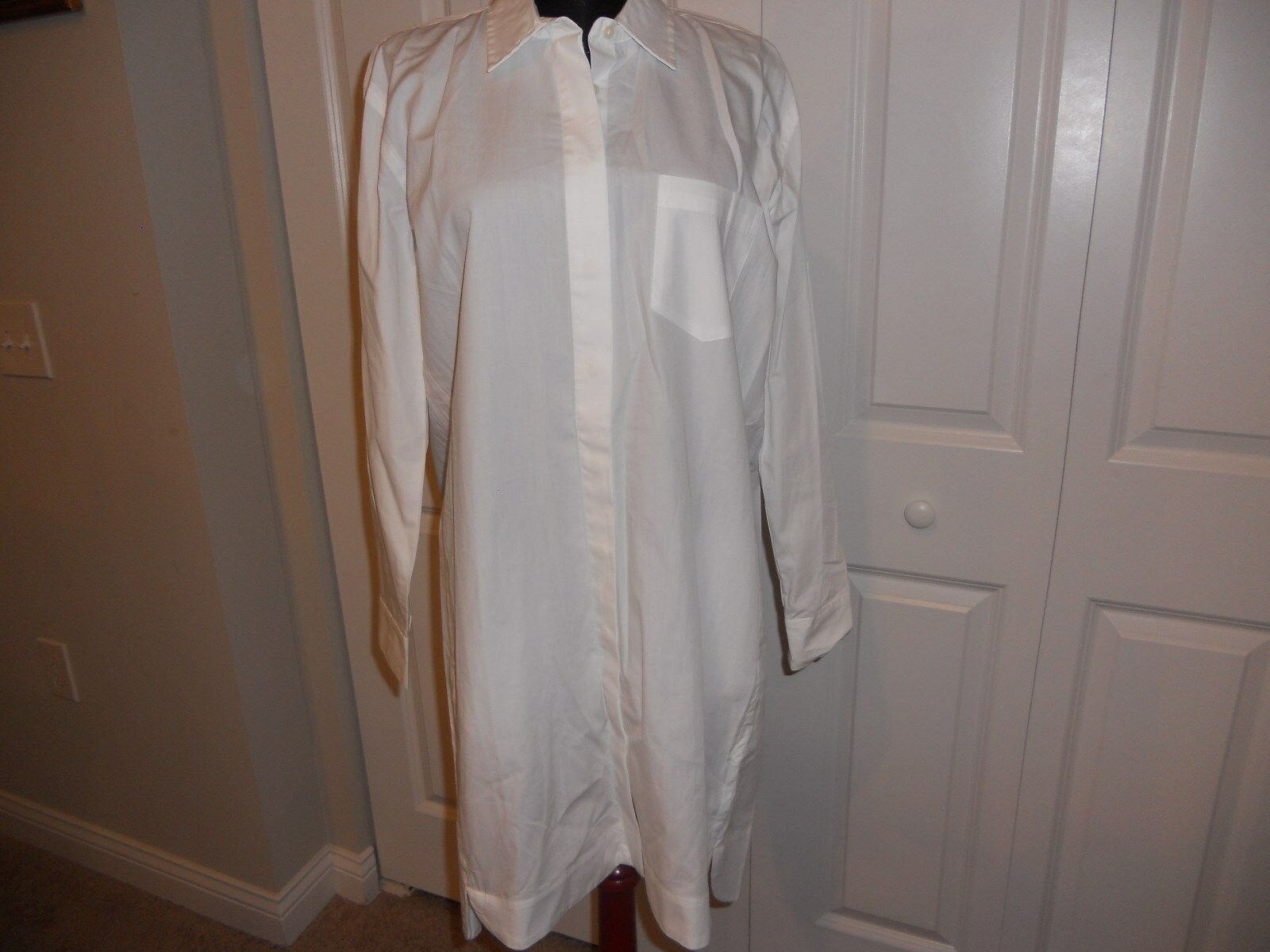 NWT MADEWELL 1937 COURTYARD SHIRTDRESS IN WHITE SIZE SMALL