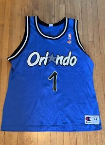 separation shoes a3cb6 23904 Details about Rare Vintage ANFERNEE Penny HARDAWAY NBA Champion Jersey 44  Orlando Magic Blue