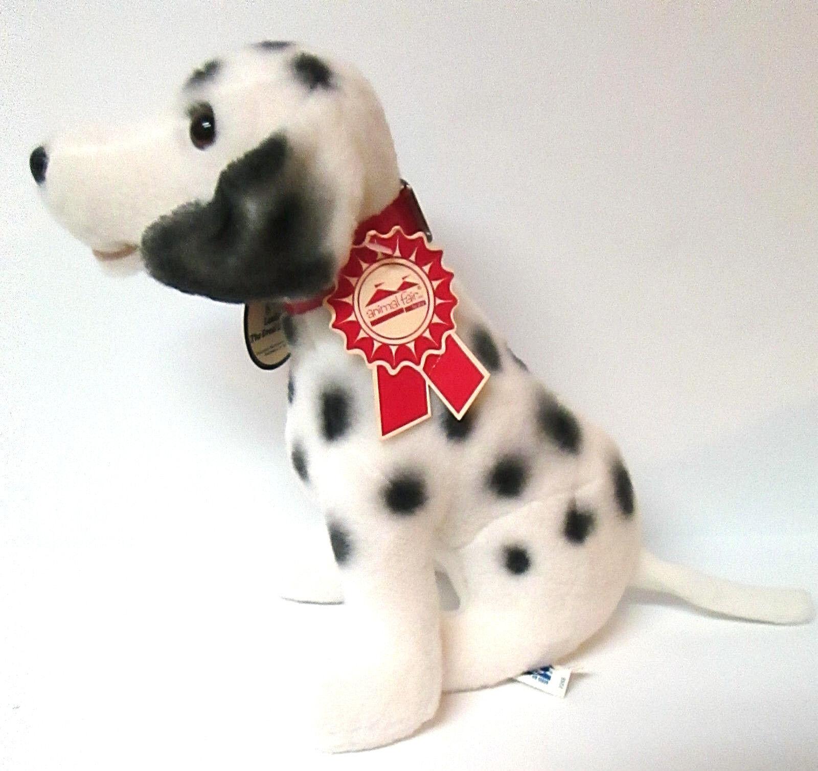 Vintage ANIMAL FAIR Pete the DALMATIAN Dog Puppy  Stuffed Plush Tags  7268 2970