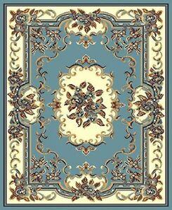 Oriental Floral Scrolls Persian Light Blue Carpet 8 X 11 Area Rug