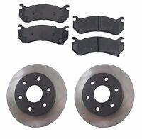 Cadillac Chevrolet Gmc Front 6 Lug Brake Rotors Semi Metallic Pads Kit
