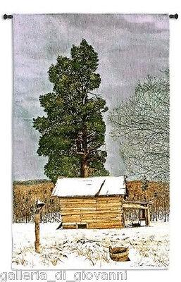 "Bob Timberlake Cedar Barn Wall Tapestry 26""x 45""  W/ROD Americana"
