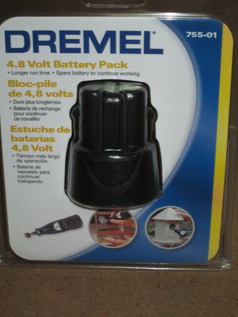 DREMEL 755-01 4.8V BATTERY PACK FOR MINIMITE 750-02 NEW IN RETAIL PACKAGE