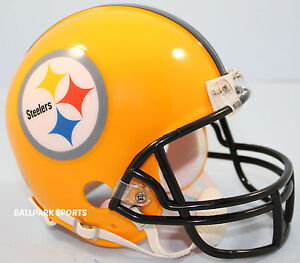 8808f295b Image is loading PITTSBURGH-STEELERS-75th-Anv-Gold-Alternate-Riddell-VSR4-