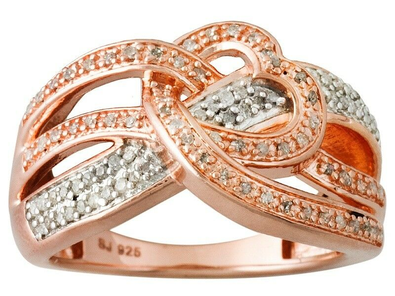 Round Diamond Engild™ Ring .30 ctw 14k pink gold over S S TCC705 JTV  99.99