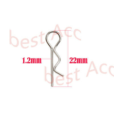 100x Stainless Steel Body Shell Clip Pin for HSP Redcat HPI RC 1//10 Model 02053