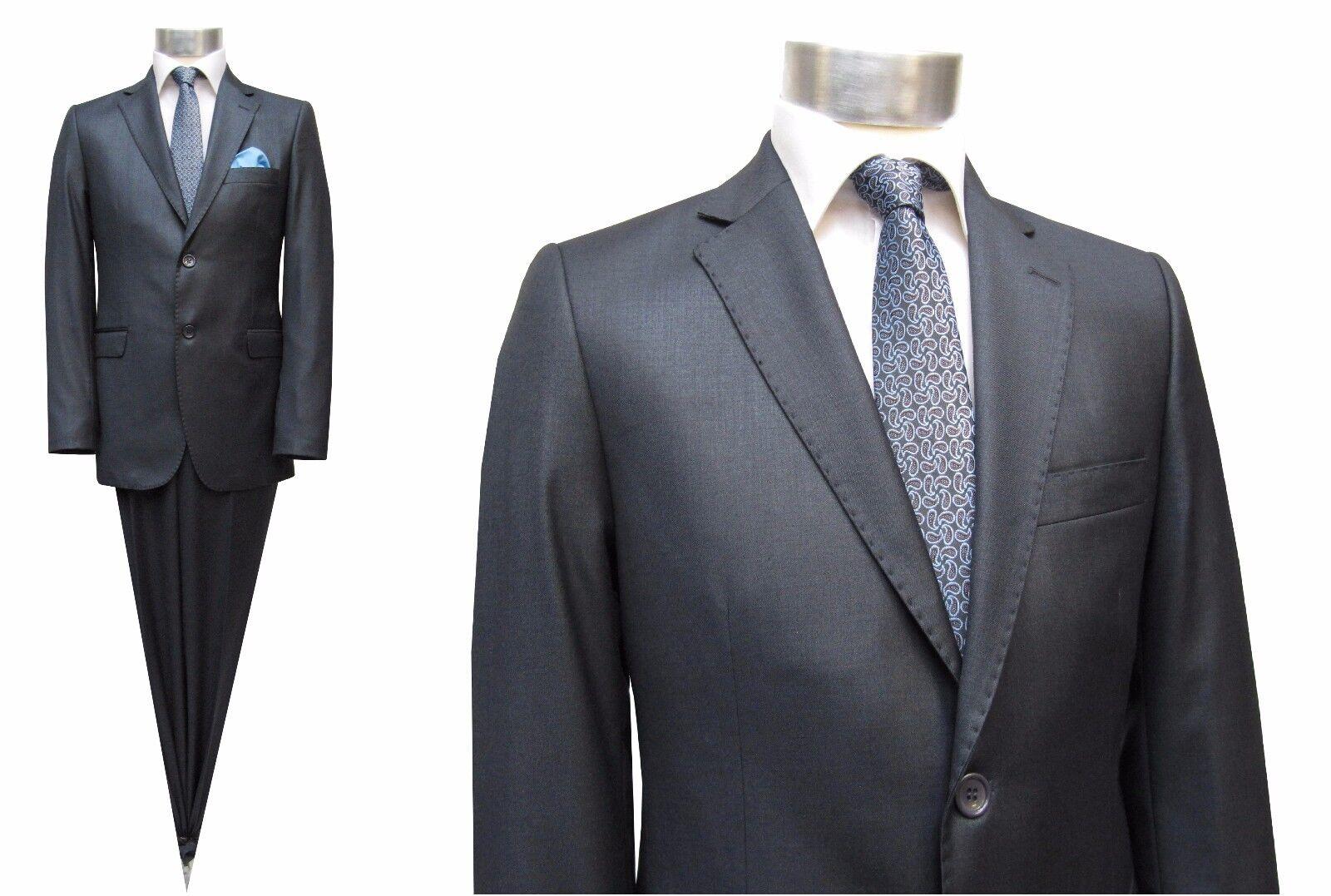 Taillierte Herren Anzug Gr.50 Dunkelgrau