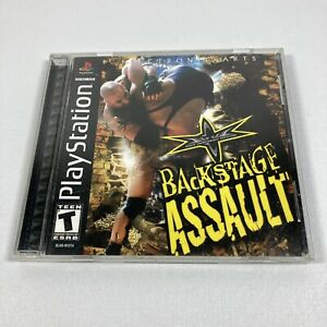 WCW-Backstage-Assault-Sony-PlayStation-1-PS1-2000-COMPLETE-Tested