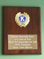 Kiwanis International Award Plaque 8x10 Trophy Free Custom Engraving