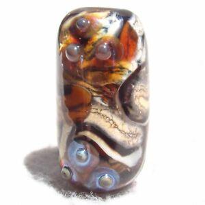 TIGRESS Handmade Art Glass Focal Bead Flaming Fools Lampwork Art Glass SRA