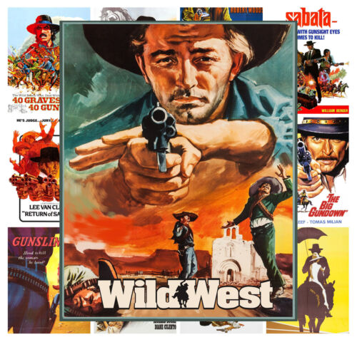 """13 posters 8/""""x11/"""" // A4 Mini Posters pack Western Cowboy Vintage Movie MP422"""