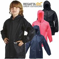 New Kids Boys Girls Childrens Regatta Stormbreak Waterproof Rain Jacket Coat