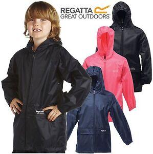 NUOVI-Bambini-Ragazzi-Ragazze-Childrens-Regatta-Stormbreak-Impermeabile-Rain-Jacket-Coat