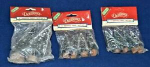 """New Sealed 1992 LEMAX Village 3 Sets of 4 Bristle Tree 2-1/2"""" Total of 12 #14005"""