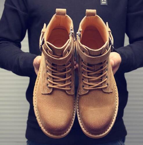 Homme Bottines Outdoor Anti-Dérapant Fermeture Éclair Latérale Classique Combat Desert Bottes Chaussures SZ