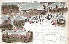 NÖ: Gruß aus Maria Enzersdorf Litho 1898 Amphietheater, Restaurant, Wällischhof,