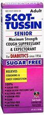 Scot-Tussin Senior Cough Suppresant - Expectorant Maximum Strength 4 oz (4 pack)