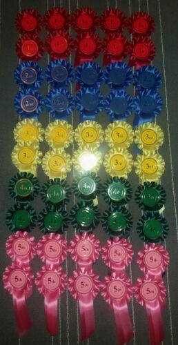1st à 5th X10 50 rosettes Dog show cheval événement