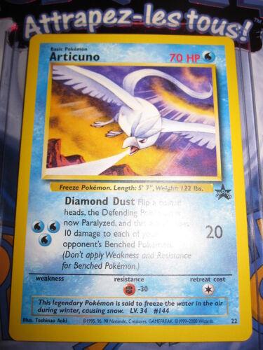 22 2000 mint black star rare non-holo english Pokemon nine promo articuno no