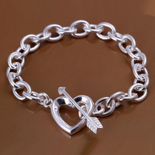Fashion 925 flèche love goddess Bracelet en argent Wdding Belle Cadeau Femme Fille