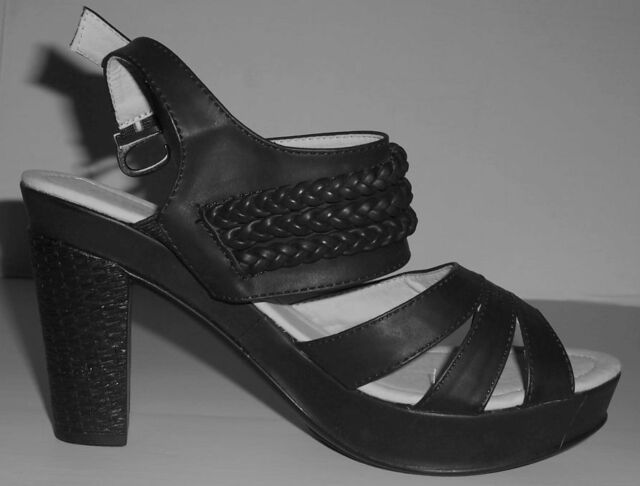 BLACK Sling Back Dress SHOES with a 10cm Heel.....Size 7....New Item