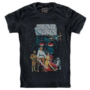 Star Wars T-Shirt Vintage Comic-r2-d2 c3po Luke Skywalker ... Old Princess Leia Shirts