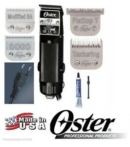 Oster PRO Stylist Barber A5 220 Volt Classic 97 Clipper SET-4 Cryogen-X Blades
