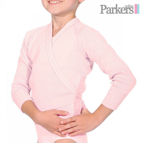 NEW GIRLS LADIES BALLET TAP DANCE CROSSOVER CARDIGAN PINK BLUE PEACH LILAC OL1