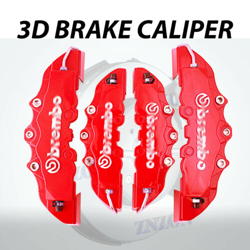 4pcs Red 3D Disc Brake Caliper Cover Kit For Toyota Camry 16-18 inch wheels
