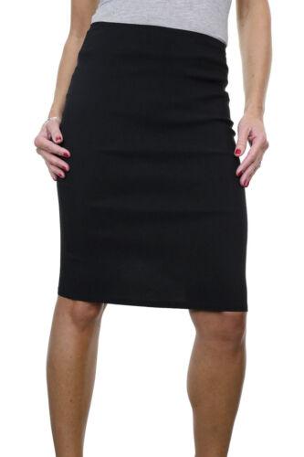 Ladies School Office Pencil Skirt 22 Smart Casual Black NEW 6-18