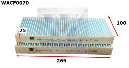 WESFIL CABIN FILTER FOR Nissan Navara 3.0L V6 dCi 2010 10//10-on WACF0070