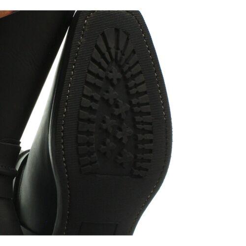 Grinders New Renegade High Mens Biker Black Leather Boots Biker Style