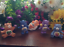 "thumbnail 1 - CUSTOM PAINT Lot of 5 Vintage UK Care Bear Characters 2"" Mini Figures  Daydream"