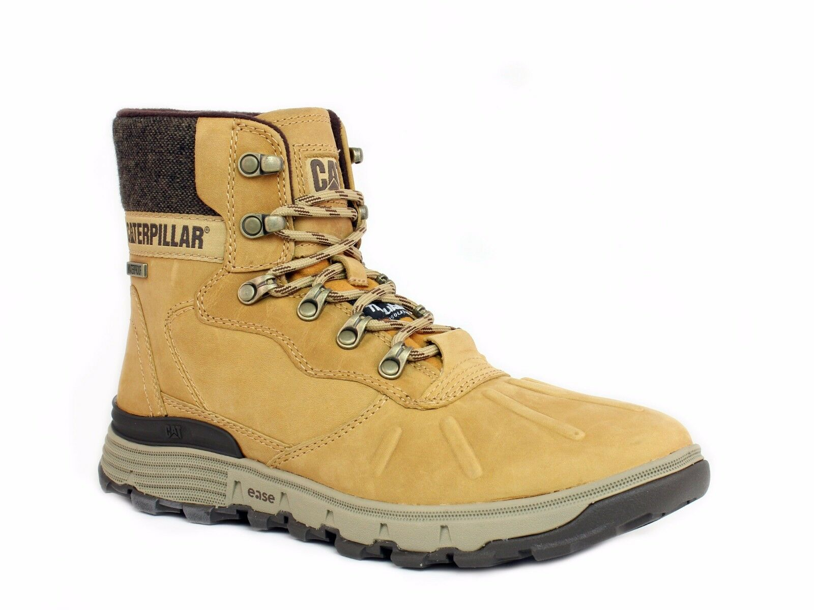 Caterpillar STICTION HI ICE+W Waterproof Mens Insulated Honey Leather Boots