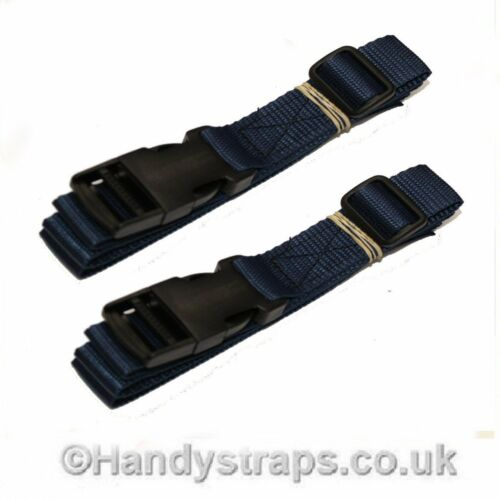 Side Release Sangle 2 x 1.5 m x 25 mm bagage valise Tie Down