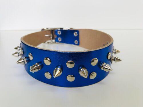 3 Colores de Cuero Genuino Con Picos Tachonado collar de perro para pequeños perros Medianos Grandes